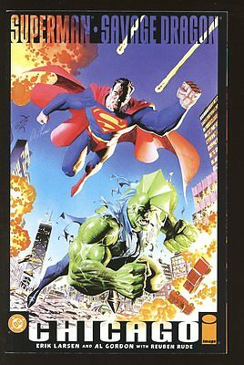 SUPERMAN SAVAGE DRAGON CHICAGO NEAR MINT 2002 LARSEN GORDON RUDE  bin-2017-0338