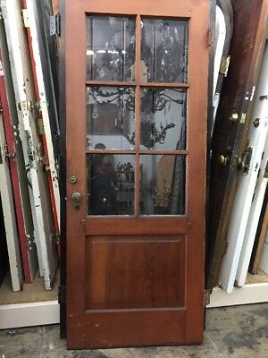 "Back Door old antique vintage With Glass 79"" X32"""