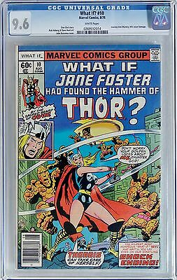 WHAT IF #10 (Marvel 1978) CGC 9.6 NM+  1st JANE FOSTER as THOR - WHITE Pages