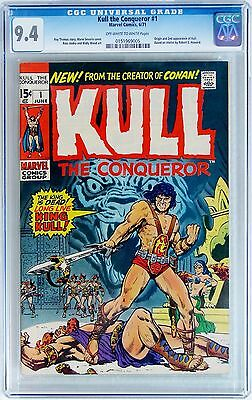 KULL THE CONQUEROR #1 (Marvel 1971) CGC 9.4 NM Origin and 2nd Appearance of Kull