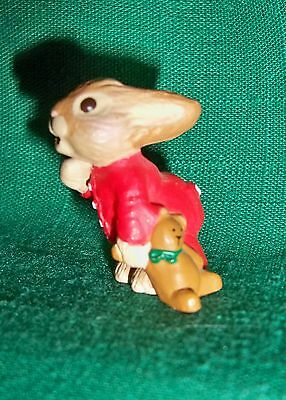 HALLMARK Merry Miniature 1987 BUNNY WITH BEAR ~ PAJAMAS