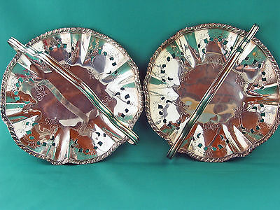 Matching Pair silverplate Baskets vintage 1950's Coronet
