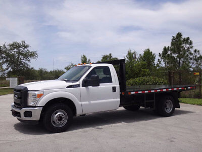 2012 Ford F-350 Flatbed 2012 Ford F350 Super Duty 12ft Flatbed 6.2L V8 Gas 1 Owner FL Truck Clean Carfax