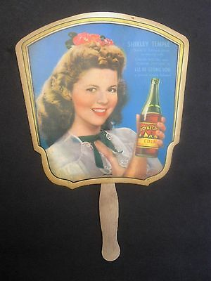 Shirley Temple Royal Crown RC Cola Advertising Fan, Vintage. WWII War Bond