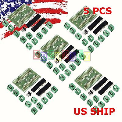 5X Screw Terminal Expansion Adapter Board Shield 4 Arduino Nano V3.0 ATMEGA328P