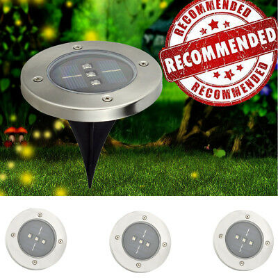 6x Underground Buried LED Light Lamp Spot Outdoor Ground Floor Landscape Garden