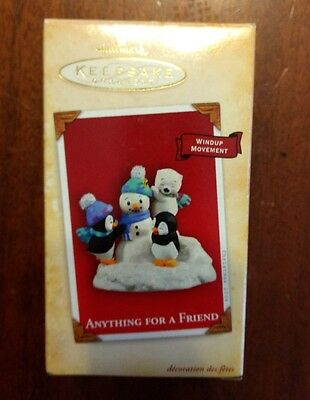 Hallmark Keepsake Anything For A Friend Christmas Ornament 2004 MIB Wind Up