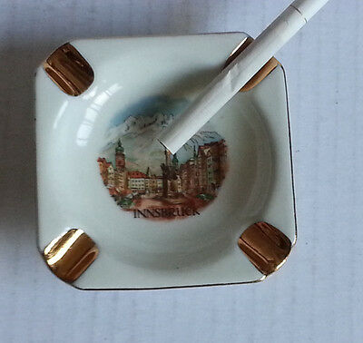 Ashtray - INNSBRUCK -  porcelain with gold paint collectible vintage
