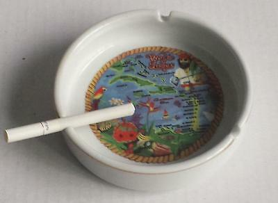 """Ashtray WEST INDIES collectible porcelain 5"""" in diameter"""