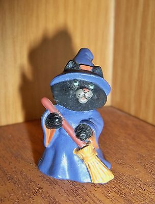 HALLMARK Halloween Merry Miniature 1991 Cat Witch