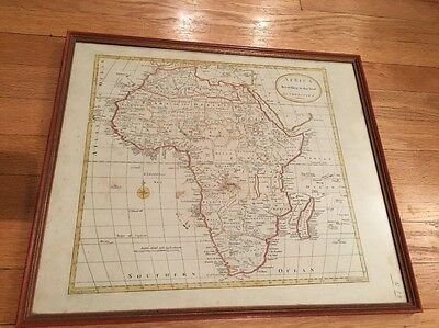 19th Century Map Of Africa - Hand-Colored By Mathew Carey, After William Guthrie