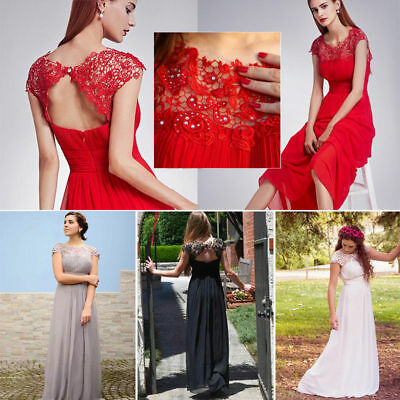 Ever-Pretty Long Bridesmaid Dresses Lace Formal Cocktail Prom Party Gowns 09993