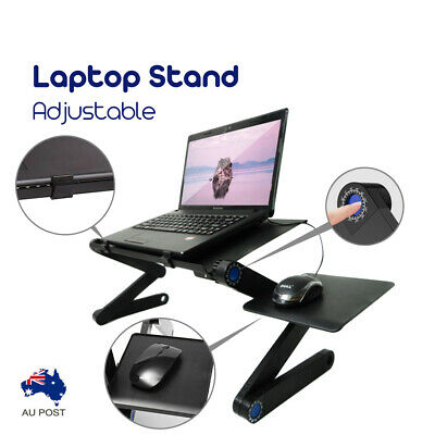 Adjustable Laptop Stand Desk Table Portable Foldable Tray Sofa Bed Mouse Pad