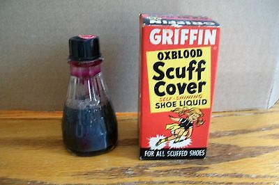 Vintage Griffin Oxblood Scuff Cover Shoe Liquid in Original Box