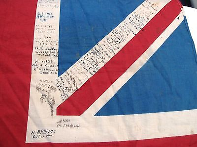 Vintage Ww2 Australian Army Soldier's Signed Union Jack Flag