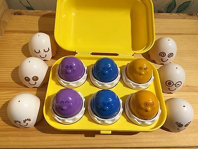 Puzzle Eggs Learning Toy TOMY Hide N Squeak Babies Kids Toddler Gifts EUC