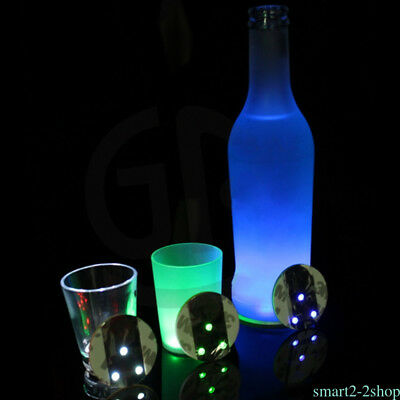 3 LED Lights Coasters Party Bar Drinks Cup Mats Glass Bottle Flash Decor UP12