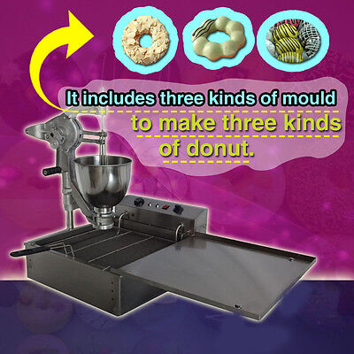 Manual Breakwater Donut Fryer Maker Making Machine Free Shipping 110V