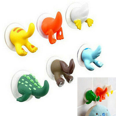 Lovely Animal Tails Hooks Hanger Bathroom Kitchen Shower Cloth Towel Suction Cup
