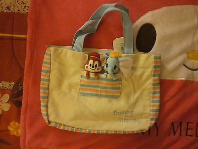Disney Store Japan Graffiti Dumbo and Timothy Hand Tote Bag