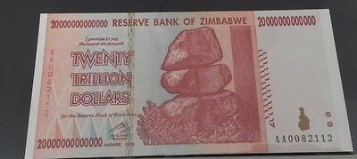 World Banknotes - Zimbabwe 2008 Twenty Trillion Dollars Uncirculated