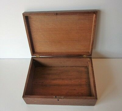 Vintage Wood Box With Key Slot
