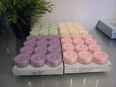 4 Boxes Partylite Tealight Candles Mixed Lot  Reduced shipping