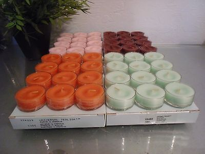 Partylite Tealights 4 Boxes Mixed Lot Reduced shipping