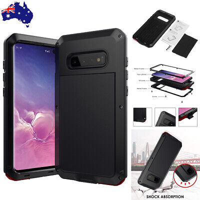 Shockproof Hard Metal Case Cover Tempered Glass For Samsung Galaxy Note 8 S8 S8+