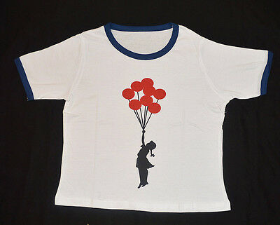 WHOLESALE NEW banksy print Crop T SHIRT  PRINT, t shirt 60 PCS  £1    EACH