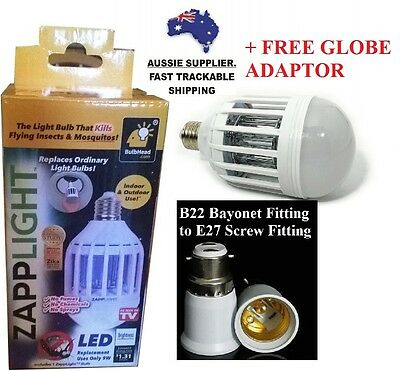 NEW Efficient Zapplight LED Light & Bug Zapper. 2 Settings. Low Energy Usage