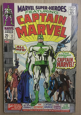 Marvel Super-Heroes #12 (Marvel 1967) - 1st App of Captain Marvel Key Issue