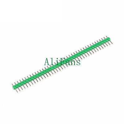 10PCS 2.54mm Green 40Pin 1x40P Male Breakable Pin Header Strip Connector AF