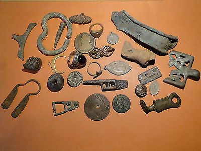 Quantity of Metal Detecting Finds including Rings and other old Artefacts