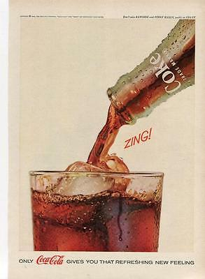 1962 Coca-Cola Print Ad-Coca Cola Gives You That Refreshing New Feeling- Zing!