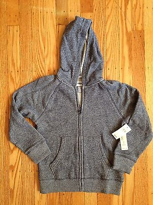 NWT Boy's/Girl's Old Navy Blue Speckled Hoodie Zip Jacket - Size XS 5