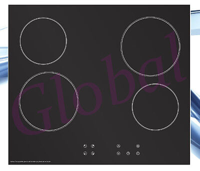 6000W Electric Cooktop Ceramic Glass 60cm Touch Control 4 Burner Cook Top *RFB*