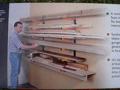 TRITON WRA001 - 6 SHELF WOODRACK SYSTEM - More than 1 available