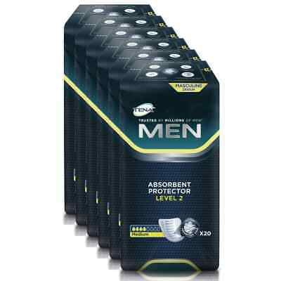 TENA Men Level 2 Discreet Protection 6 Packungen / 6 x 20 = 120 Stück (1 Karton)