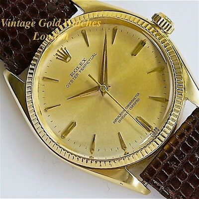 Rolex Oyster Perpetual, 18K, 1957 (Original Unrestored Dial) - Stunning!