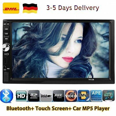 """7"""" HD 2 DIN Car Auto Stereo Player Bluetooth Touch Screen MP3 AUX FM Radio USB"""