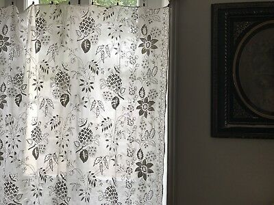 "Beautiful Antique French Chateau Cornelli Tambour Lace Curtain Panel 58""/58"""