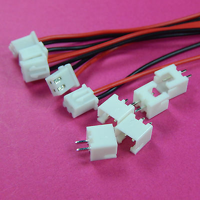 5 Sets XH Pitch 2.54mm 2Pin 2Way Wire To Board Connector 15cm 24AWG With Socket