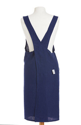 THE BRITISH TEXTILES CO Apron 88x84cm Navy 100% Linen Easy-to-wear shapes