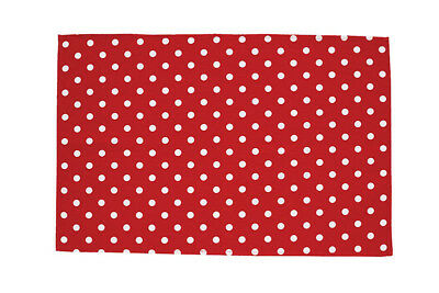 THE BRITISH TEXTILES CO Tea Towel 70x50cm Red White Dots 100% Cotton