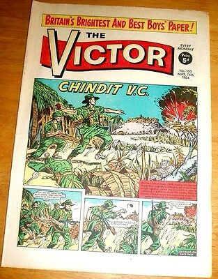 Chindits In Burma  Captain Allmand Vc  Ww2 Cover Story Victor Comic 1964