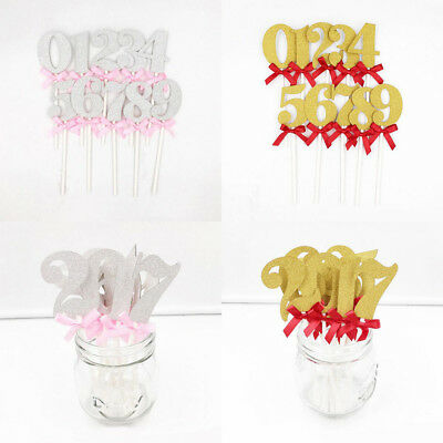 Number 0-9 Birthday Cake Toppers Happy Birthday Candle Party Supplies Decor