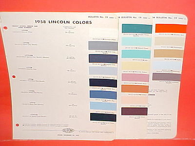 1958 Lincoln Continental Mark Iii Convertible Premiere Sedan Capri Paint Chips