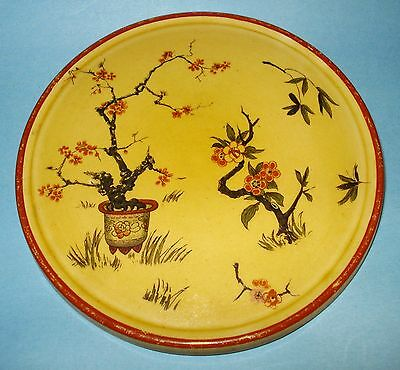 "Antique RIDGWAYS England TRIVET ""Orient"" Pattern Asian Trees Flowers ART DECO"
