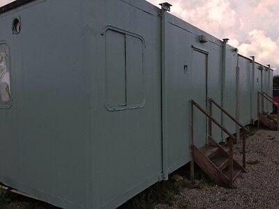 Pre-fab portable shower and toilet block